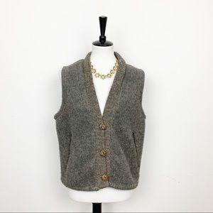 Woolrich Gray Button Down Vest Size Large